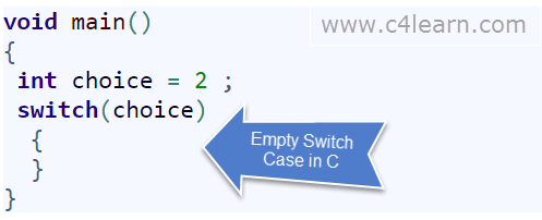 No cases in switch case - c programming