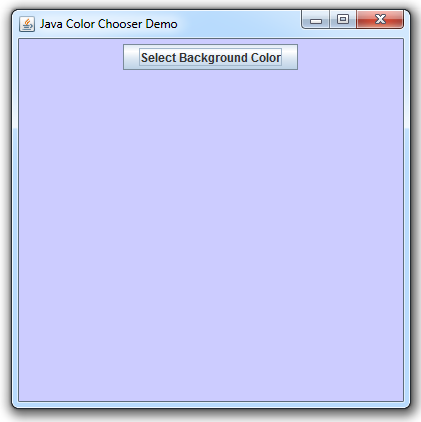 Swing Color Chooser - After Color Selection