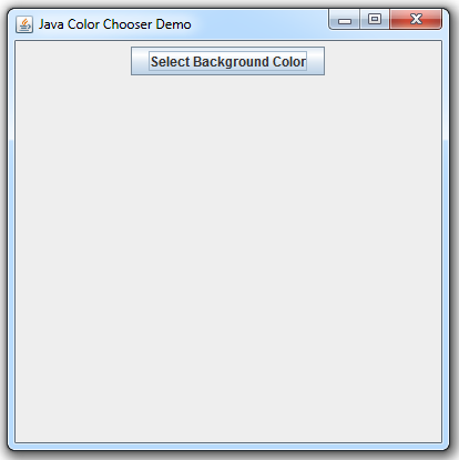 Swing Color Chooser