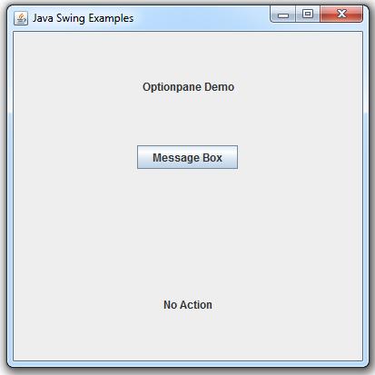 Swing JOptionPane 1