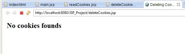 deleting cookies in jsp