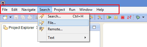 Eclipse IDE Toolbar