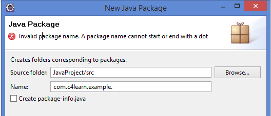 Invalid Java Package Name