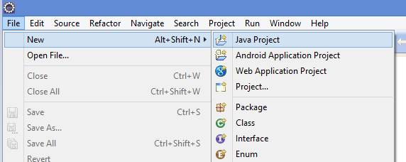 Step 1 - Create new Java Project